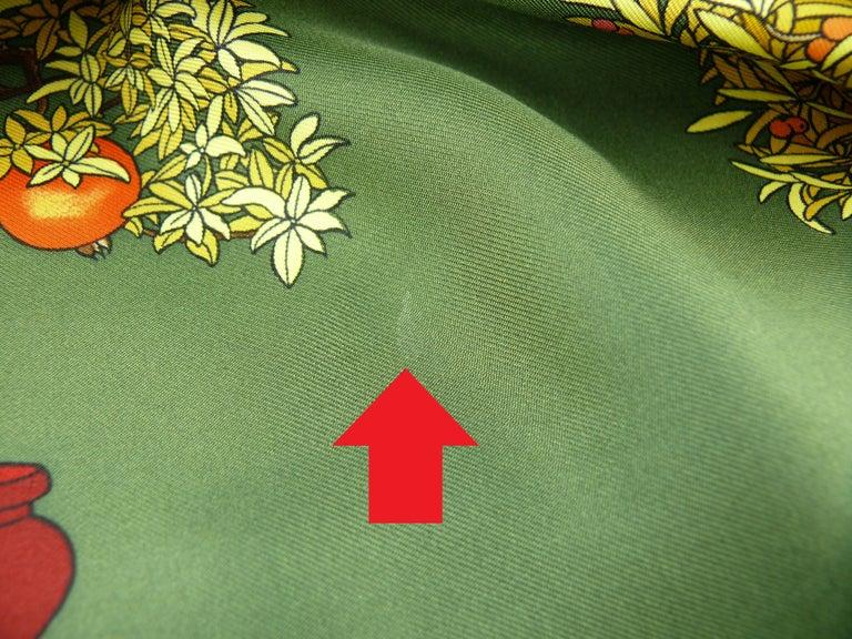 Hermes Vintage Silk Carre Scarf Les Beaux Jours de Bonsai by Catherine Baschet For Sale 3