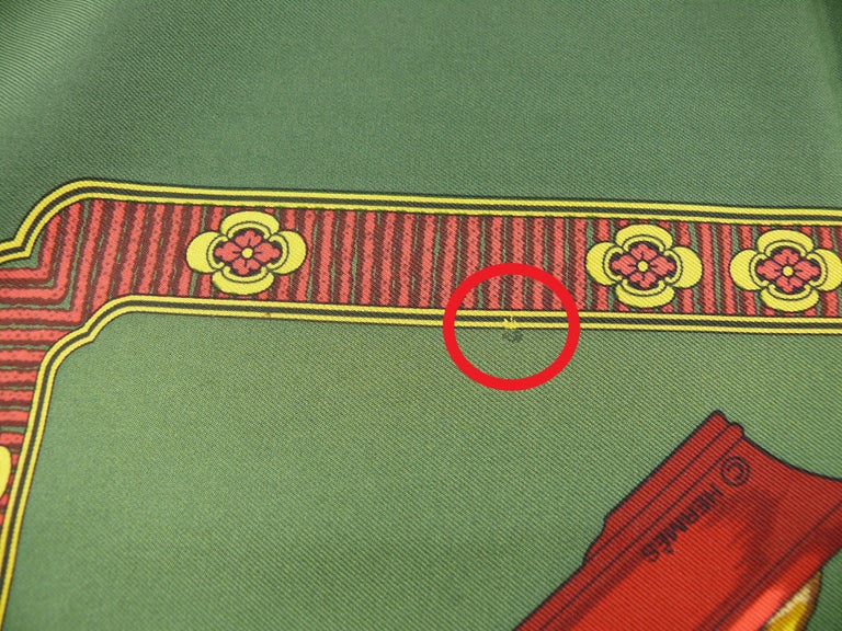 Hermes Vintage Silk Carre Scarf Les Beaux Jours de Bonsai by Catherine Baschet For Sale 1