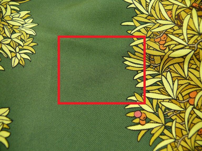 Hermes Vintage Silk Carre Scarf Les Beaux Jours de Bonsai by Catherine Baschet For Sale 6