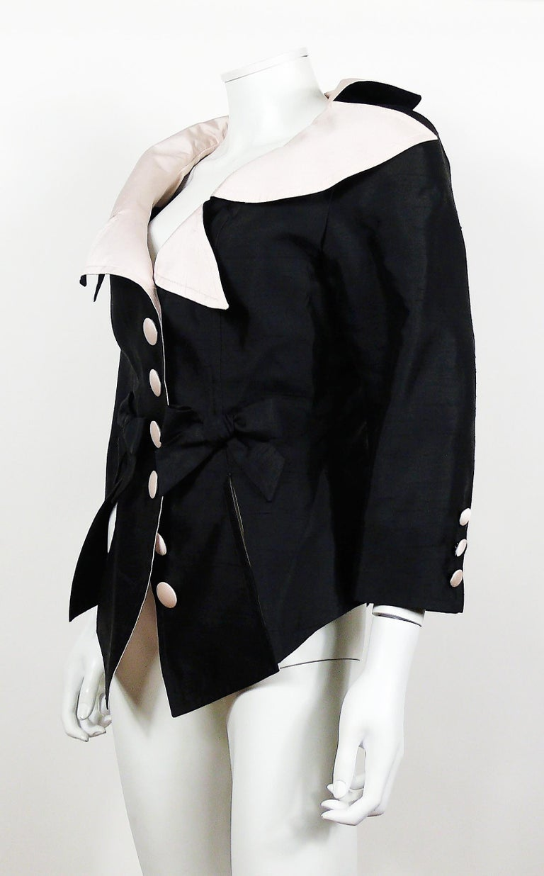 Black Christian Lacroix Vintage 18th Century Inspired Jacket For Sale