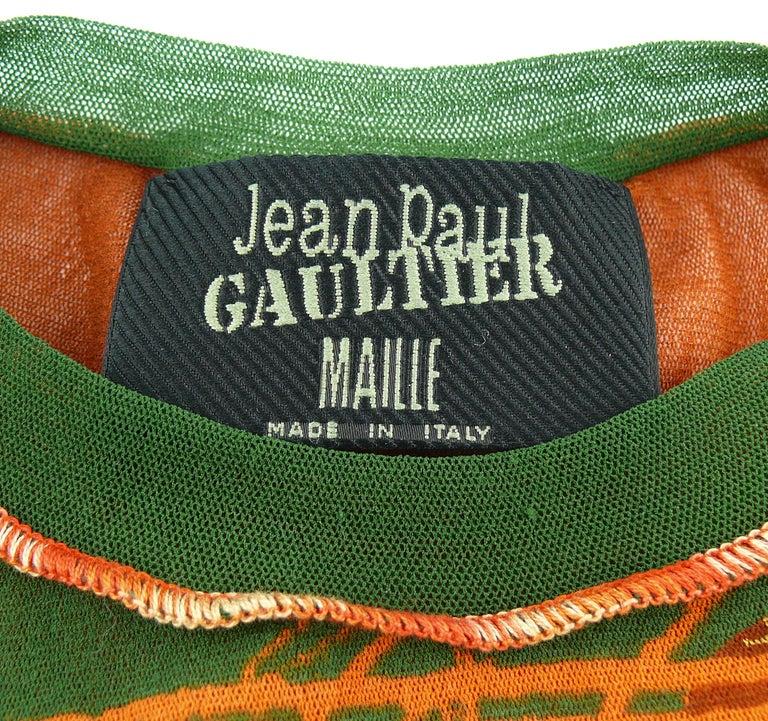 Jean Paul Gaultier Vintage Venus de Milo Sheer Mesh Top Size S For Sale 3