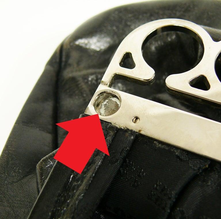 Jean Paul Gaultier Vintage Black Distressed Leather Knuckle Duster Clutch For Sale 16