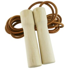 "Hermes Limited Edition ""A Sporting Life"" Wood and Leather Jumping Rope"