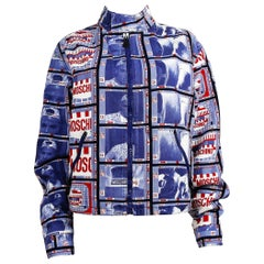 Moschino Vintage 1990s TV Screen Print Jacket US Size 32
