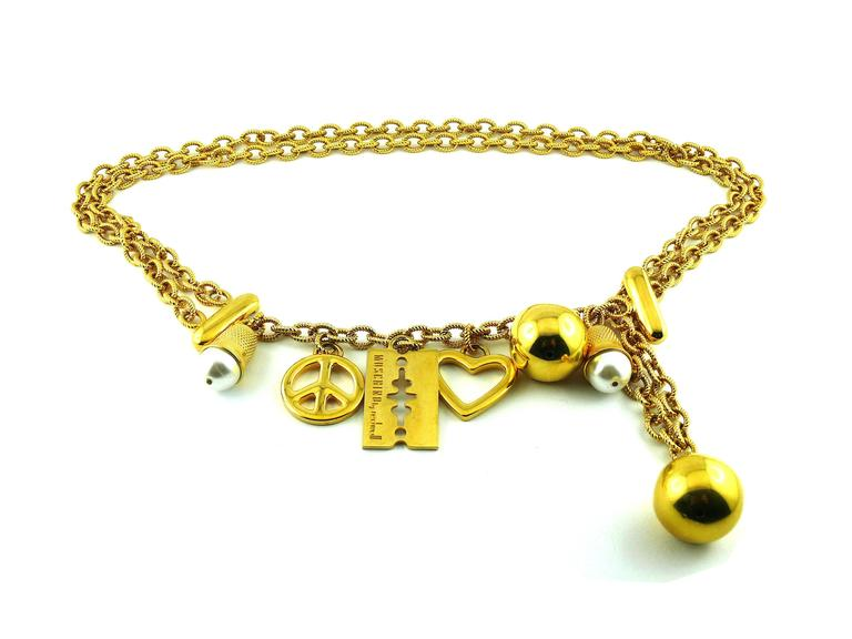 Moschino Vintage Necklace/Belt with Charms 2