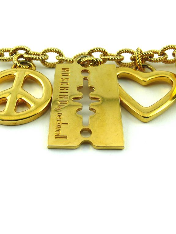 Moschino Vintage Necklace/Belt with Charms 3