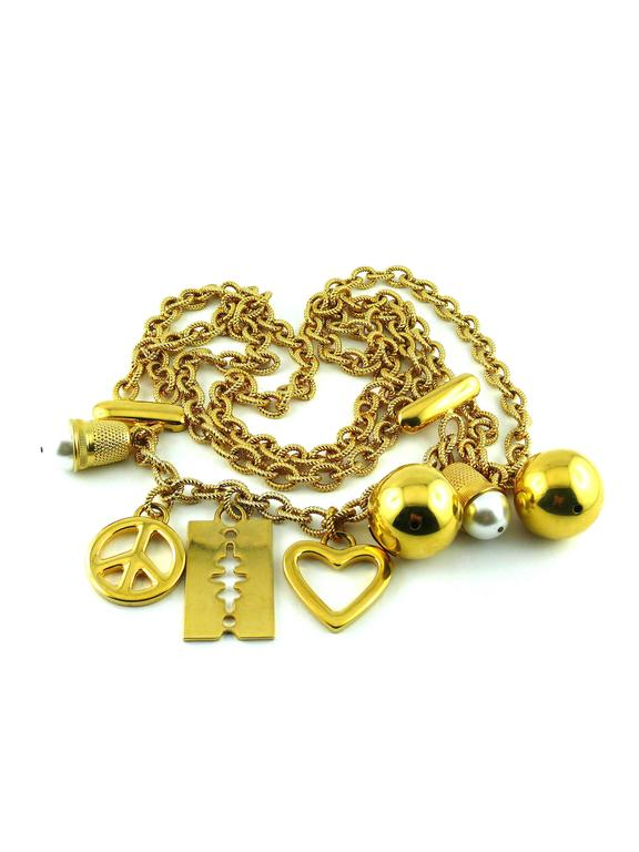 Moschino Vintage Necklace/Belt with Charms 4