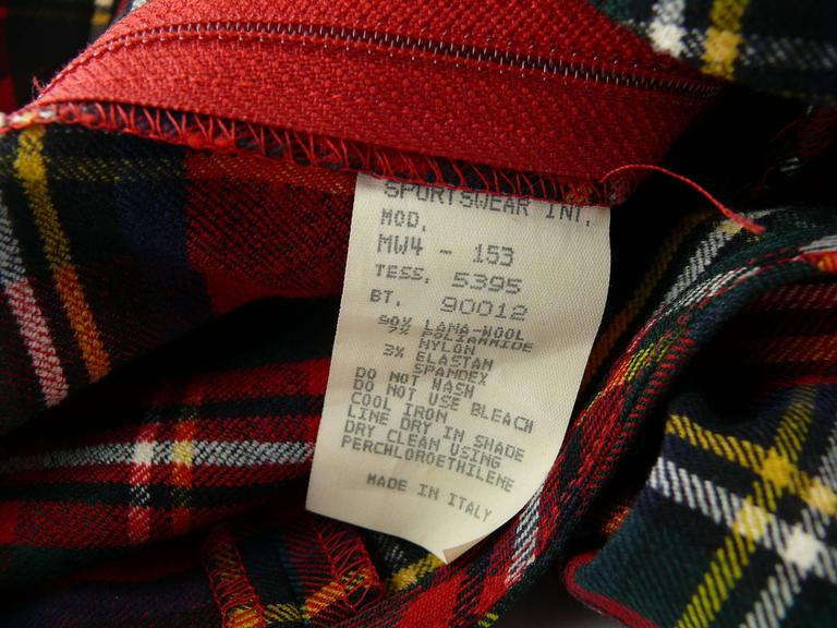 Moschino Vintage Tartan Plaid Mini Day Dress For Sale 2