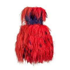 Bill Blass Ostrich Feather dress