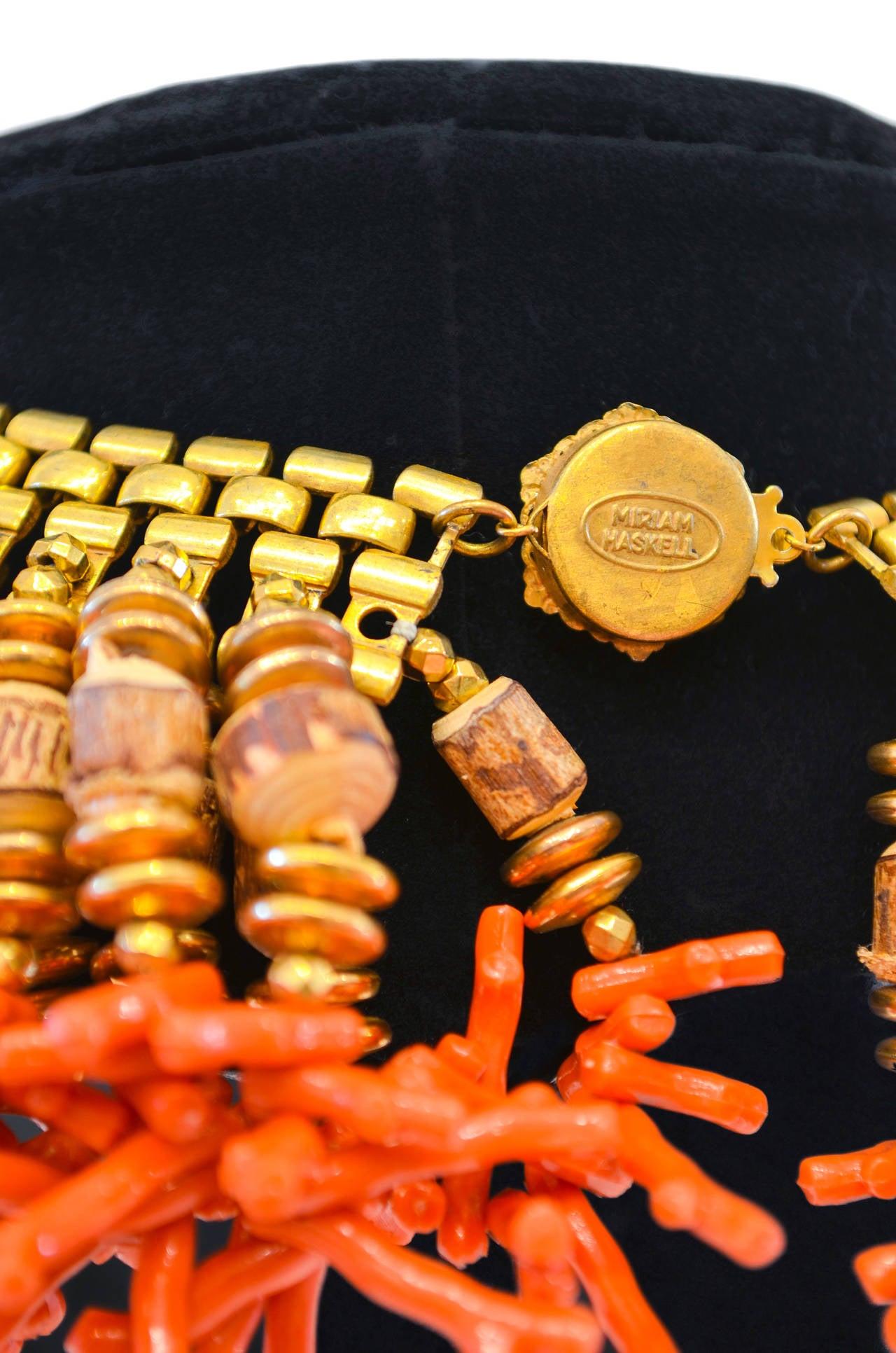 Women's Miriam Haskell Fringe Bib Necklace For Sale
