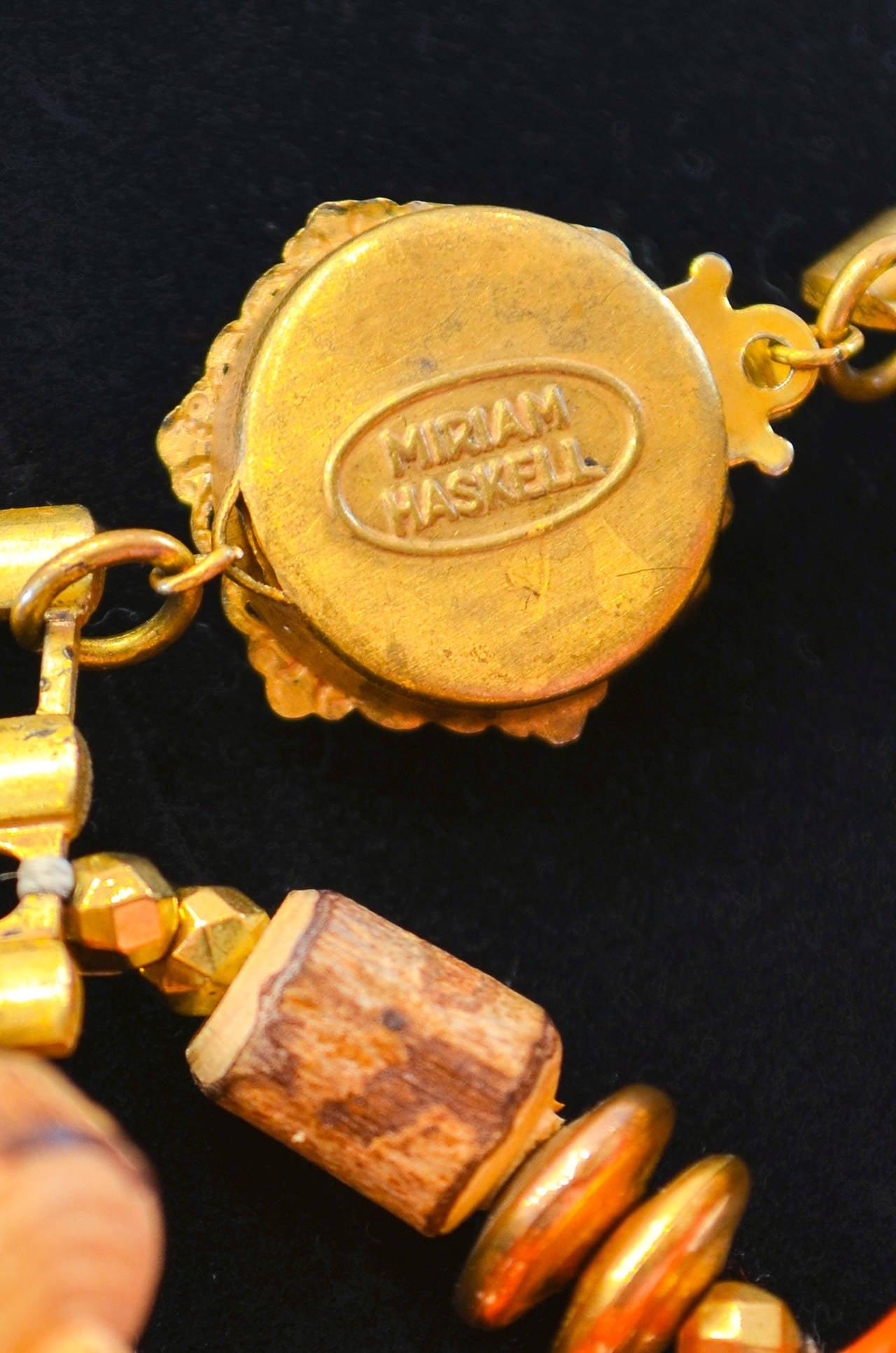 Miriam Haskell Fringe Bib Necklace For Sale 1
