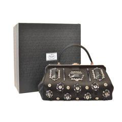 PRADA crystal embellished  Bag with Original Box