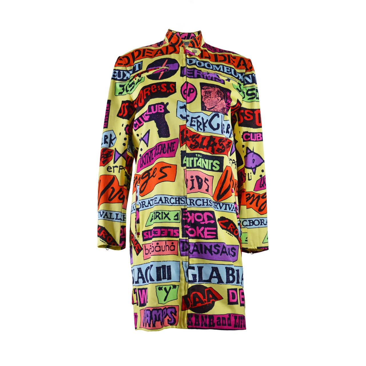 Stephen Sprouse Rock Stickers Coat