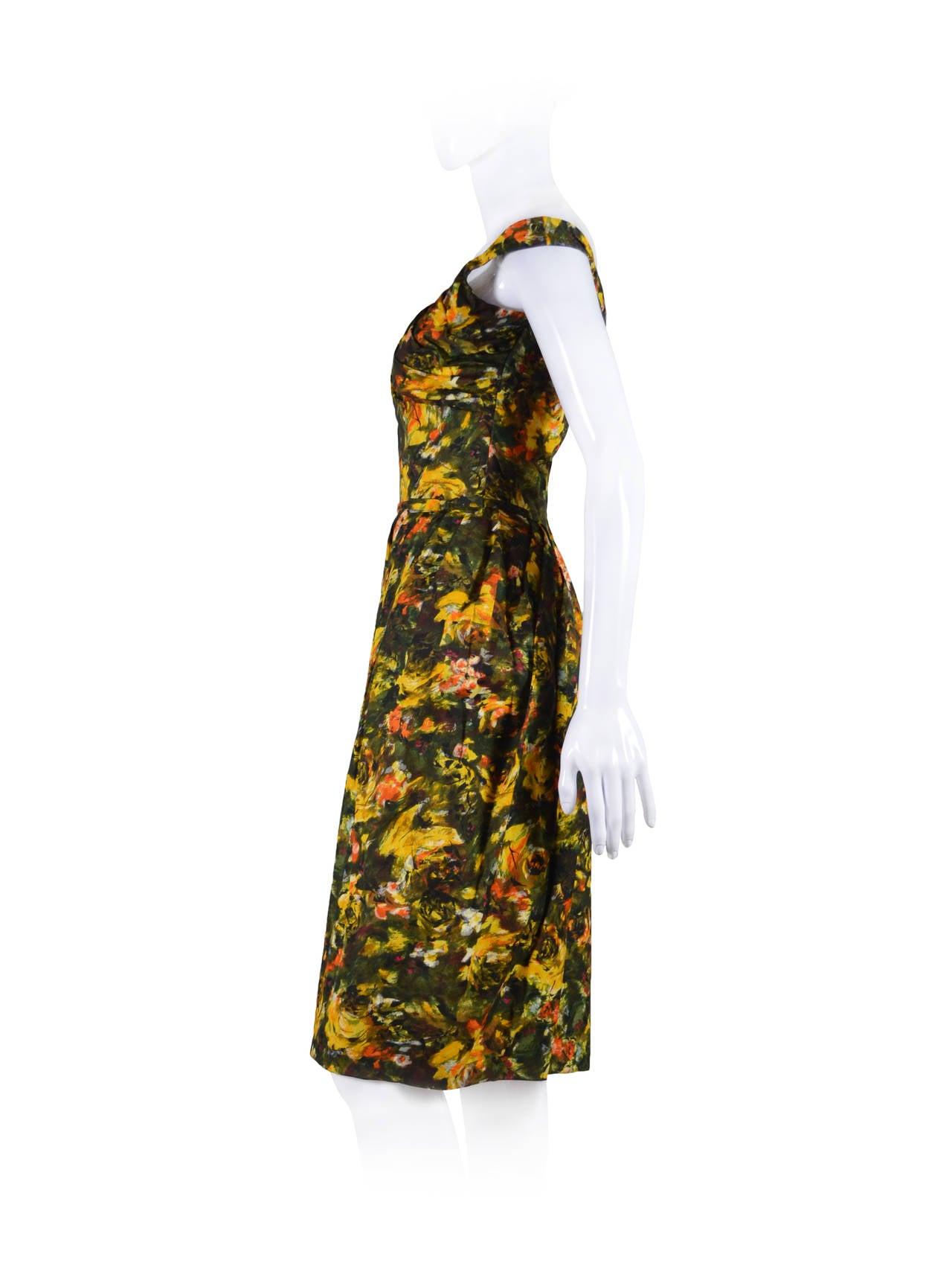CEIL CHAPMAN 1950's Cocktail Dress 2