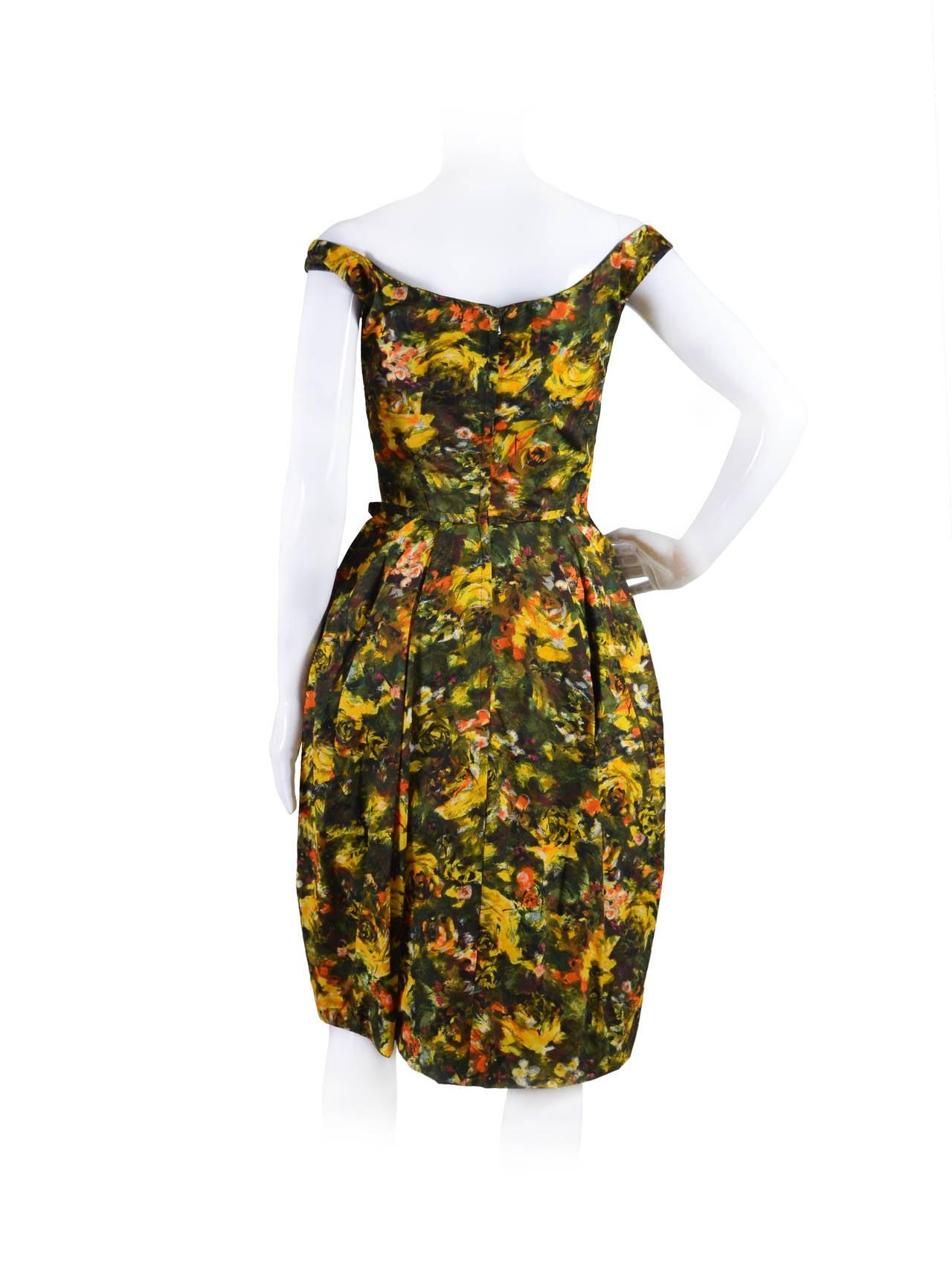 CEIL CHAPMAN 1950's Cocktail Dress 3