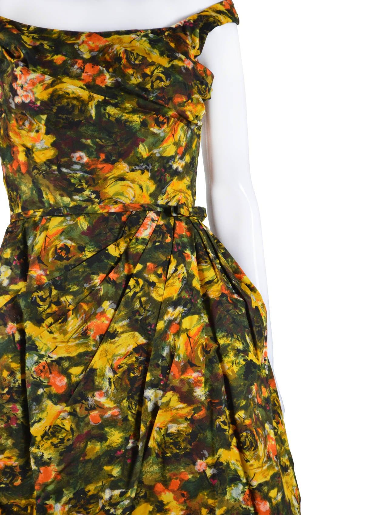 CEIL CHAPMAN 1950's Cocktail Dress 4