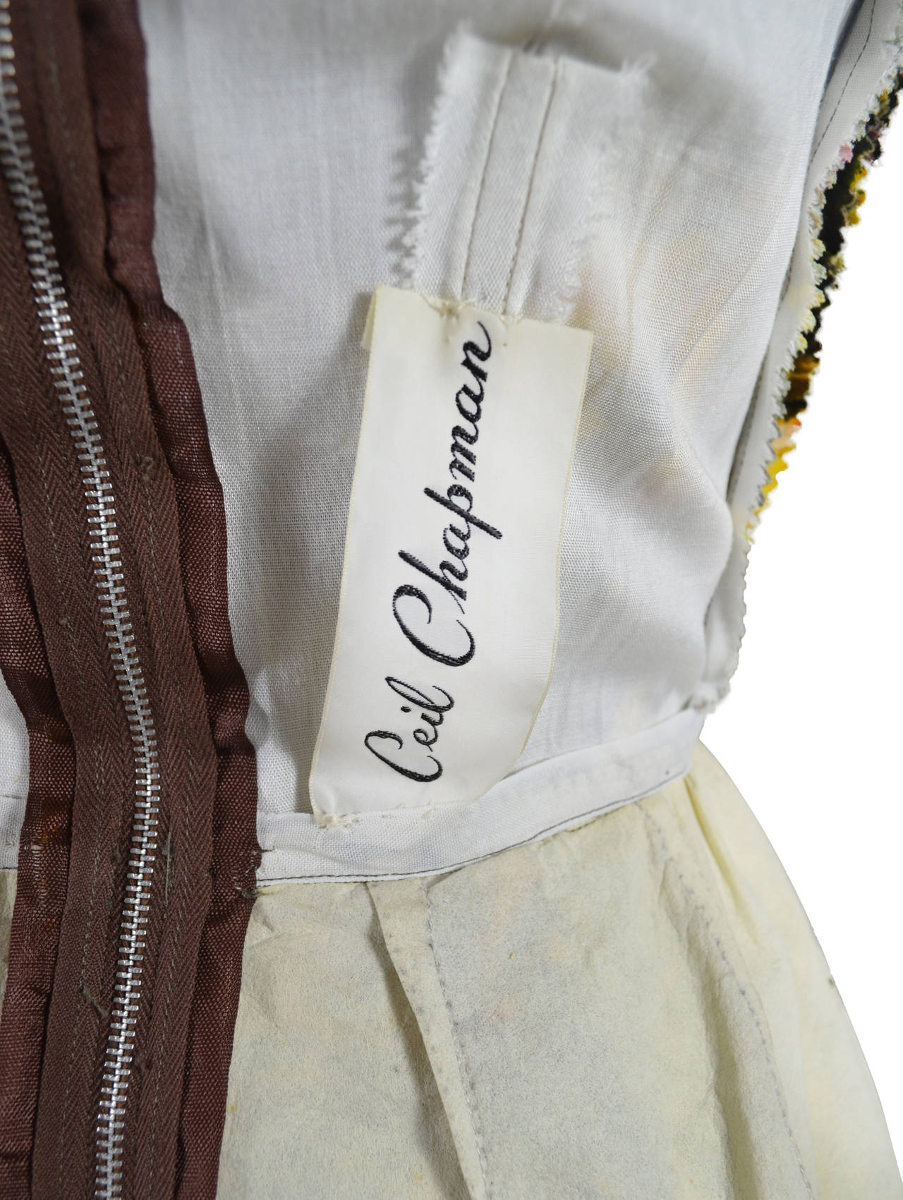 CEIL CHAPMAN 1950's Cocktail Dress 6
