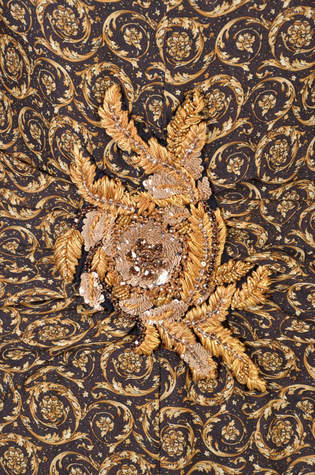 New Versace Mixed Print Silk Gown 8