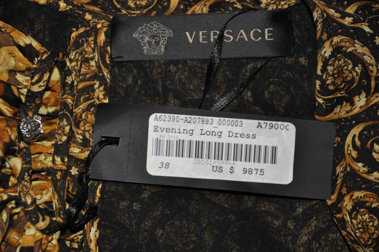 New Versace Mixed Print Silk Gown 9