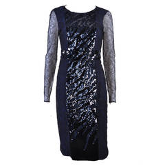 New VERSACE Sequin Embroidered Lace Cocktail Dress