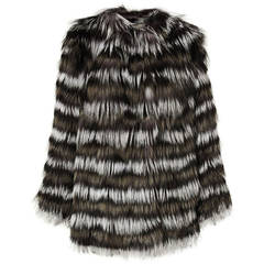 New Etro Silver Fox Fur Coat