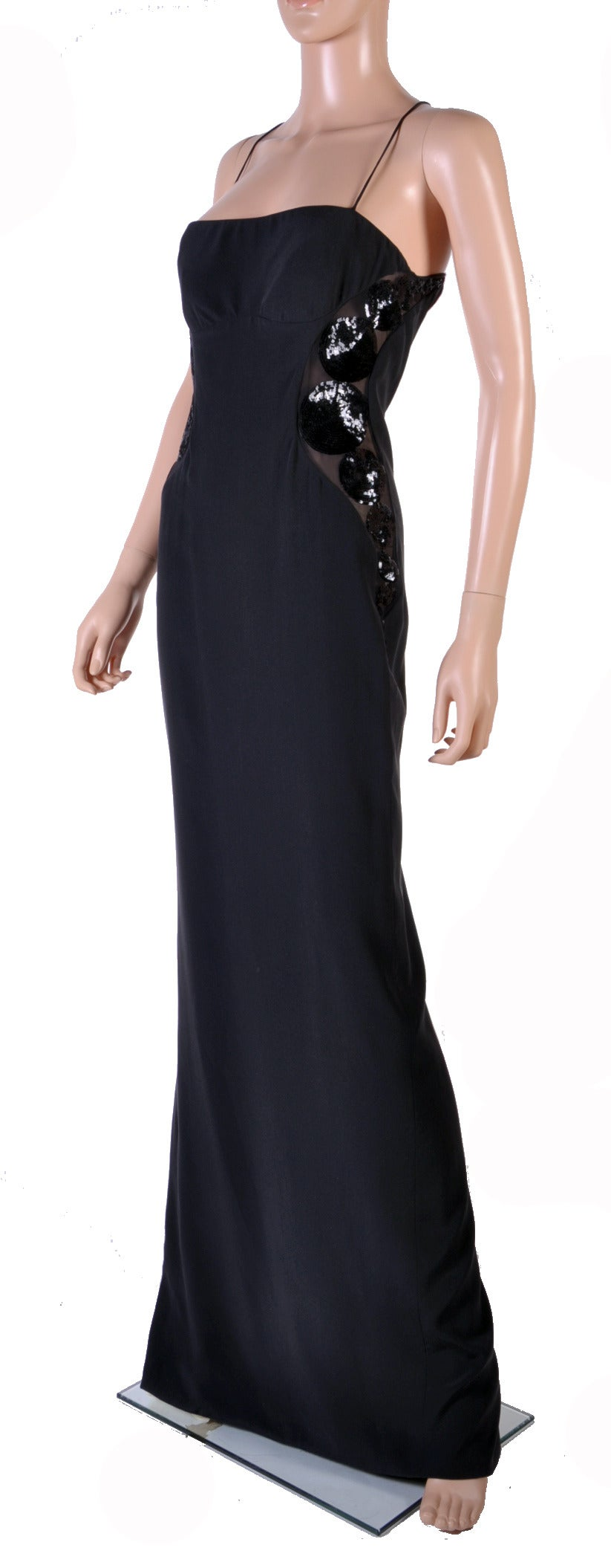 New Versace black embellished gown 2