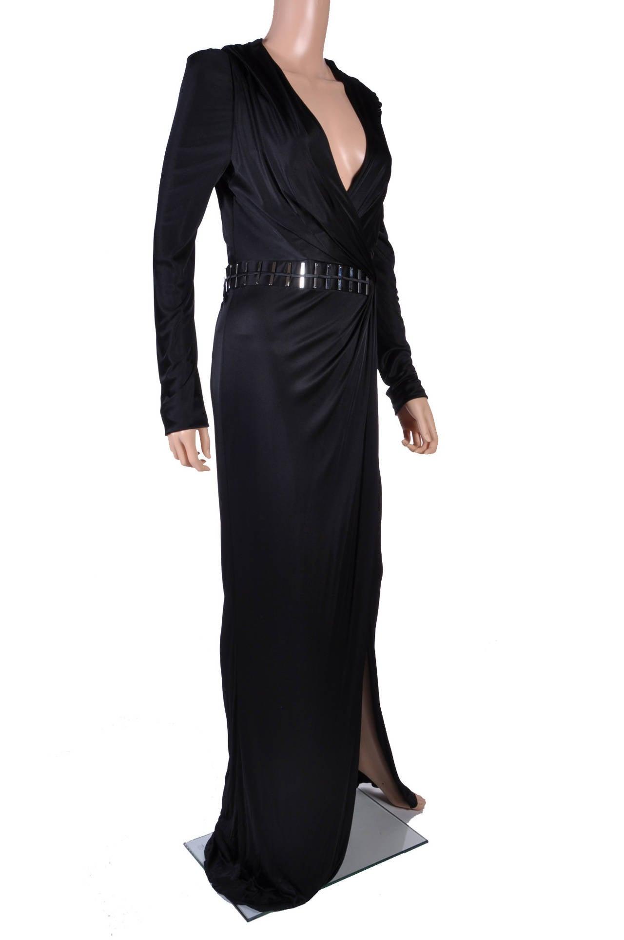 New VERSACE BLACK WRAP DRESS 2