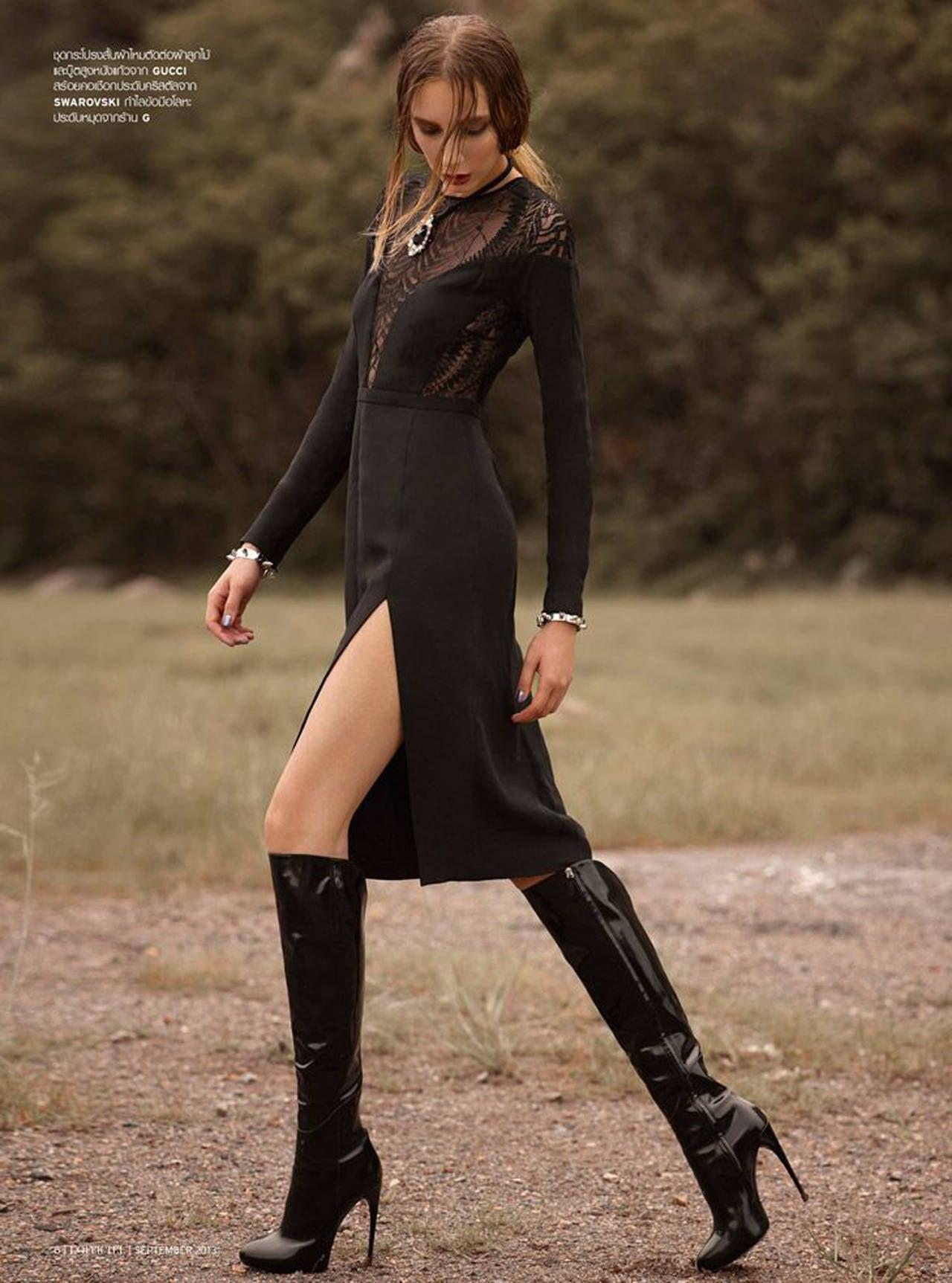 New Gucci Kim Platform Knee High Stiletto Heel Black Boots