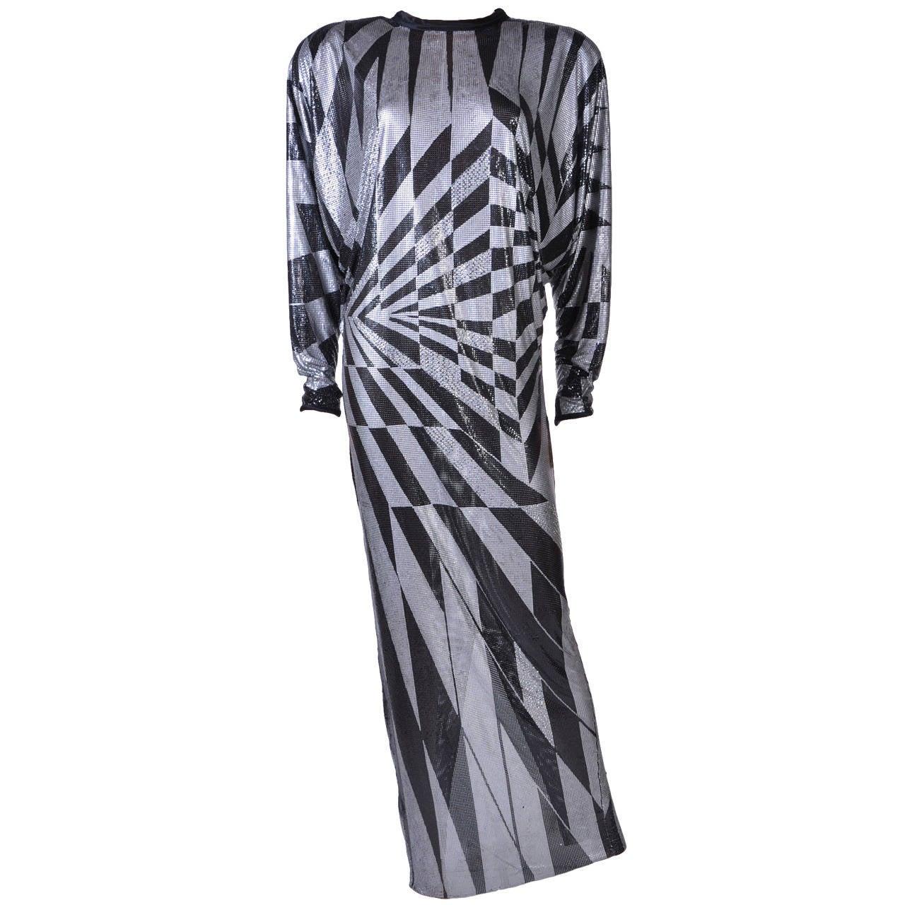 80-s Gianni Versace Metal Mesh Crystal Gown