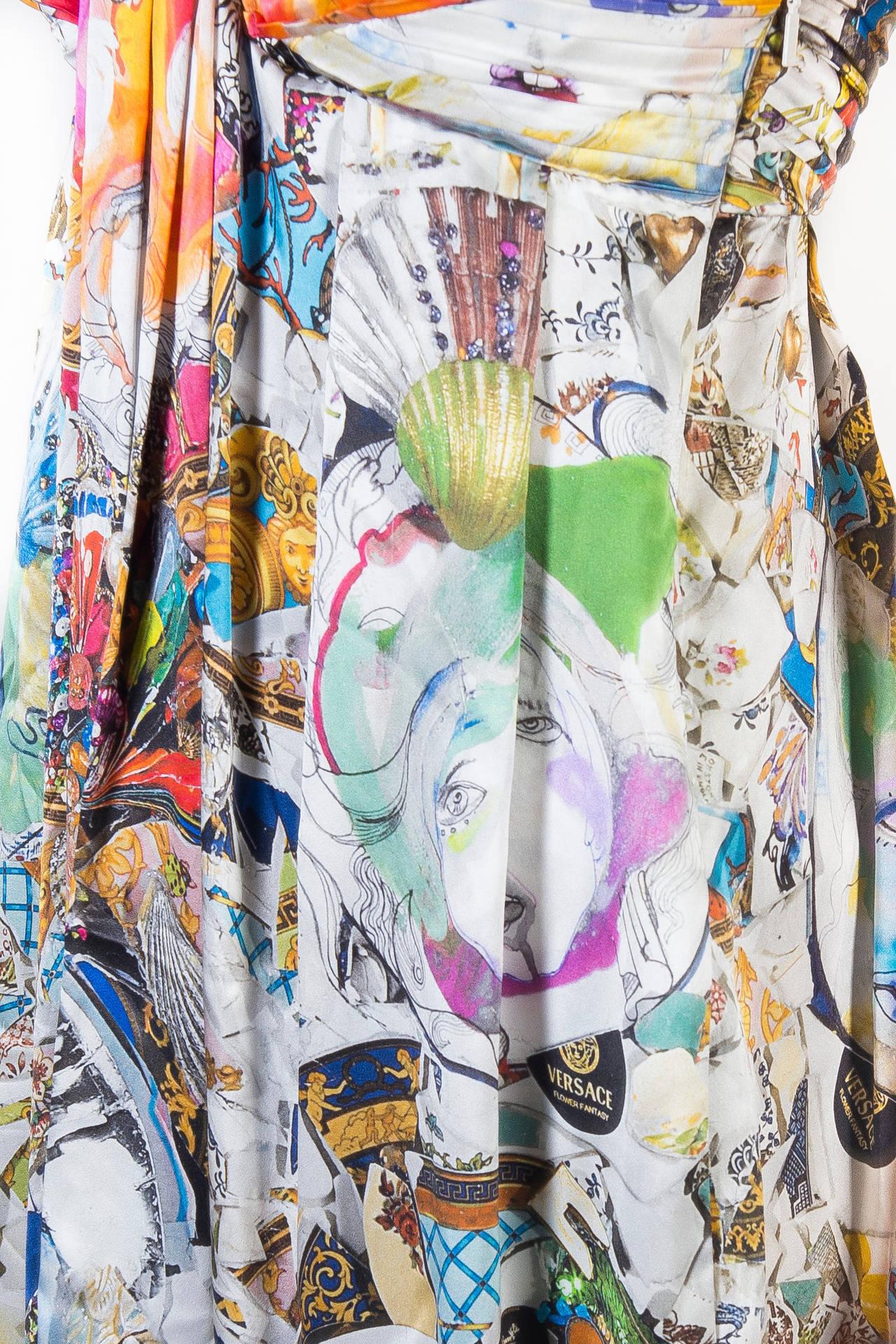 New VERSACE Julie Verhoeven Print Silk Dress 4