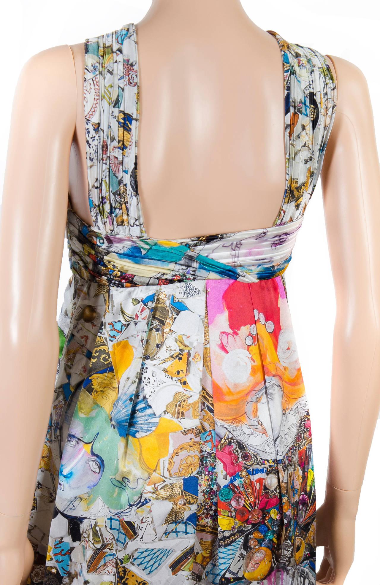 New VERSACE Julie Verhoeven Print Silk Dress 7