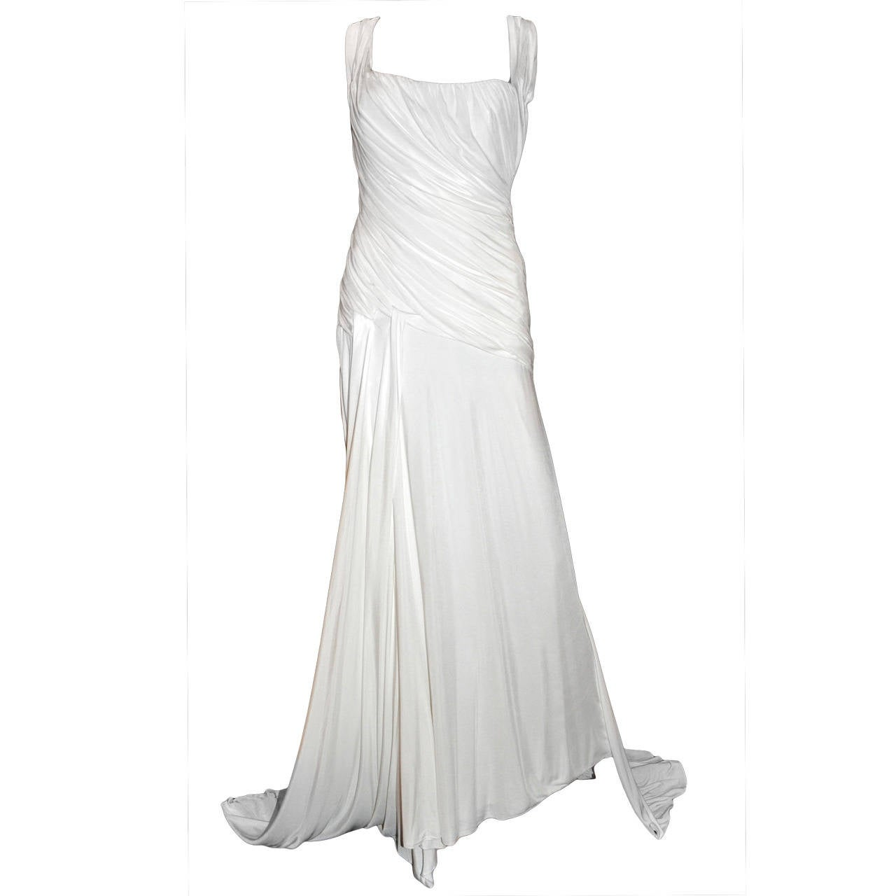 New Versace white gown 1