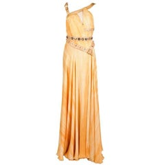 New VERSACE EMBELLISHED SILK GOWN