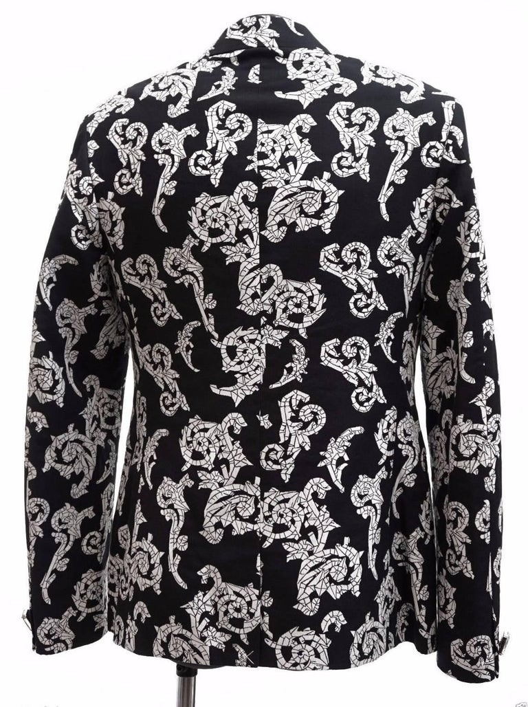 VERSACE TAILOR MADE TUXEDO BLAZER JACKET with CRYSTAL BUTTONS for MEN For Sale 1