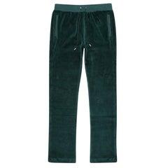 New Versace Emerald Green Velvet Lounge Pants for Men