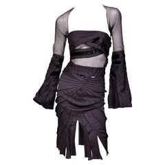 F/W 2004 Tom Ford for Gucci black dress