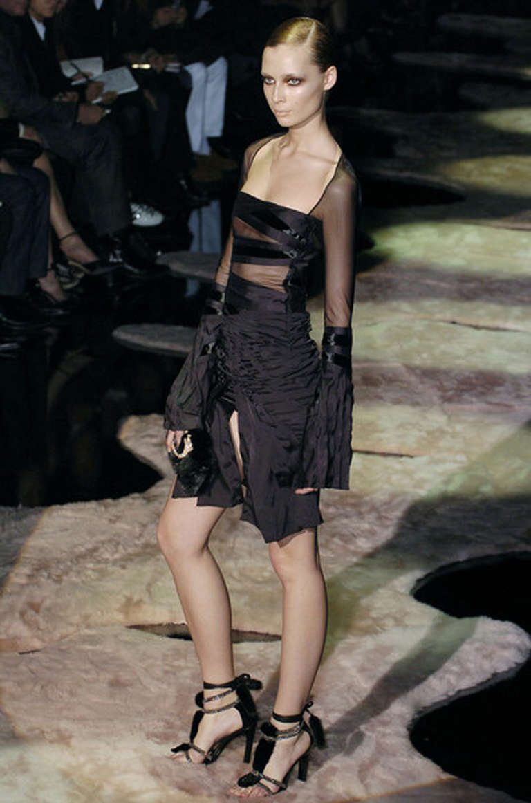 F/W 2004 Tom Ford for Gucci black dress 2