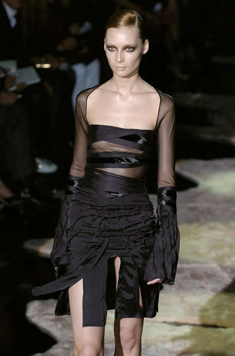 F/W 2004 Tom Ford for Gucci black dress 3