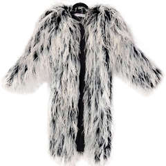 RARE 60-s YSL ostrich feather coat
