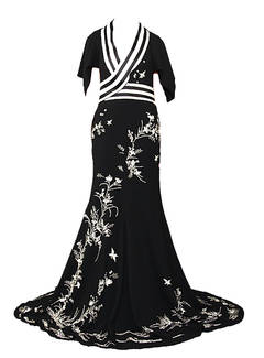 S/S 2006 Alexander Mcqueen Embroidered Kimono Gown