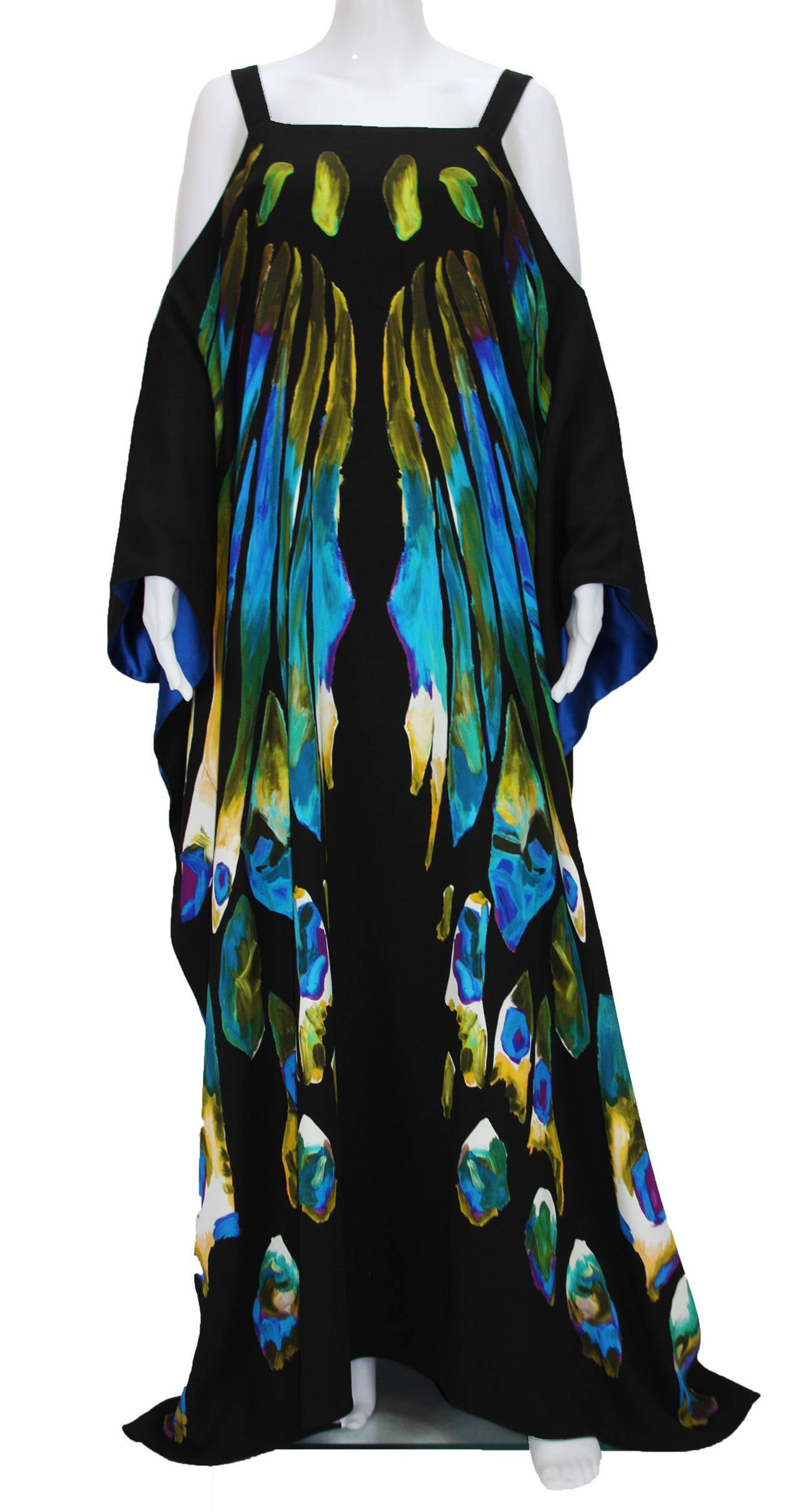 New ETRO EXOTIC & LUXURIOUS BUTTERFLY KAFTAN GOWN DRESS 2