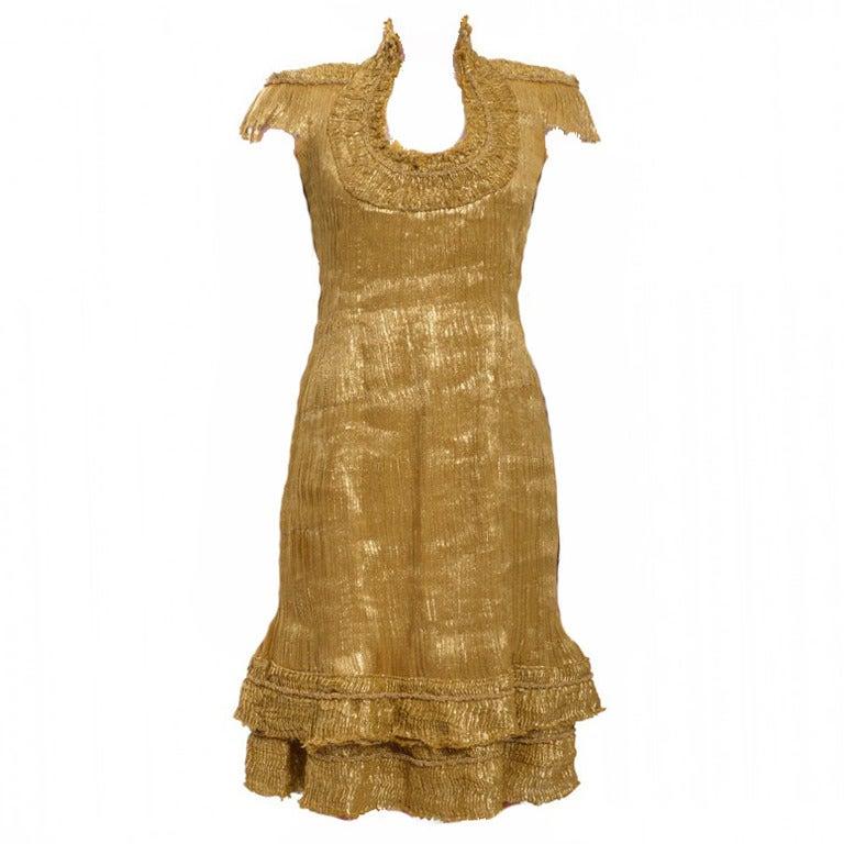 Alexander mcqueen gold dress for Alexander mcqueen wedding dresses price