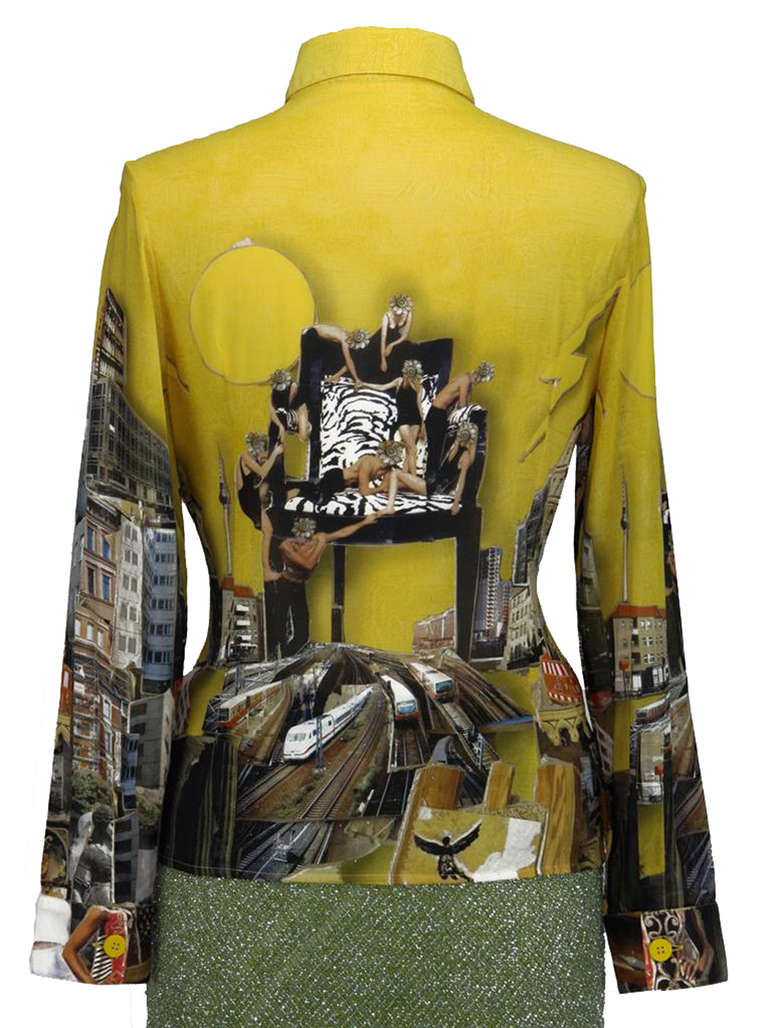 2008 Versace Tim Roeloffs art print Silk Shirt 2