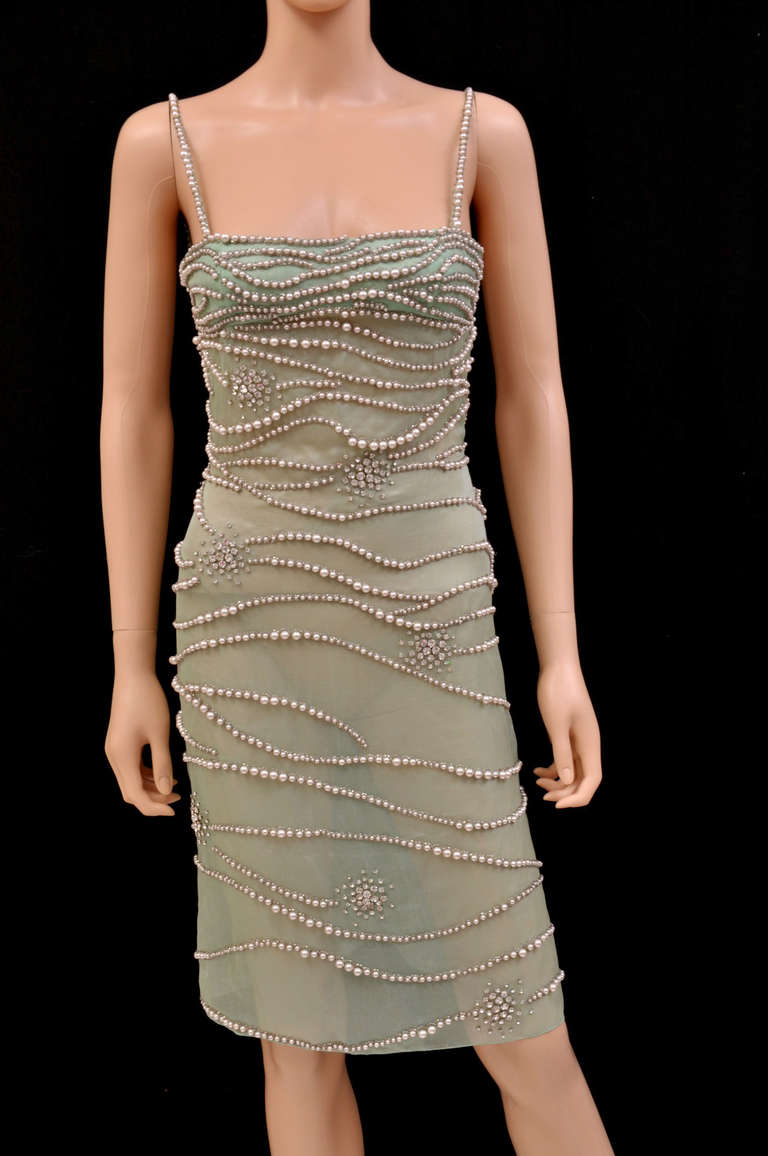 Versace Atelier Crystal And Pearl Embellished Dress At 1stdibs