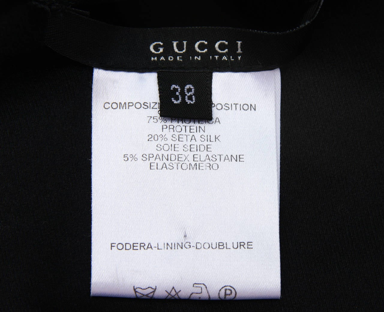 2003 Tom Ford for Gucci black bandage gown 8