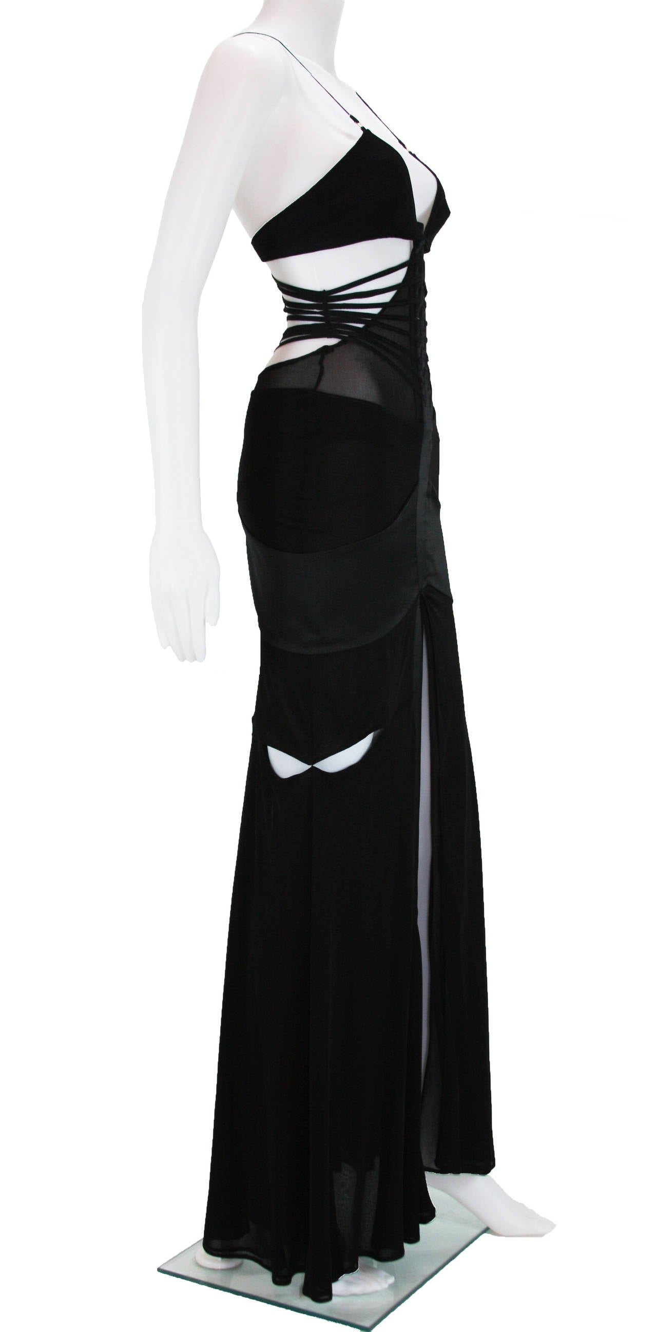2003 Tom Ford for Gucci black bandage gown 2