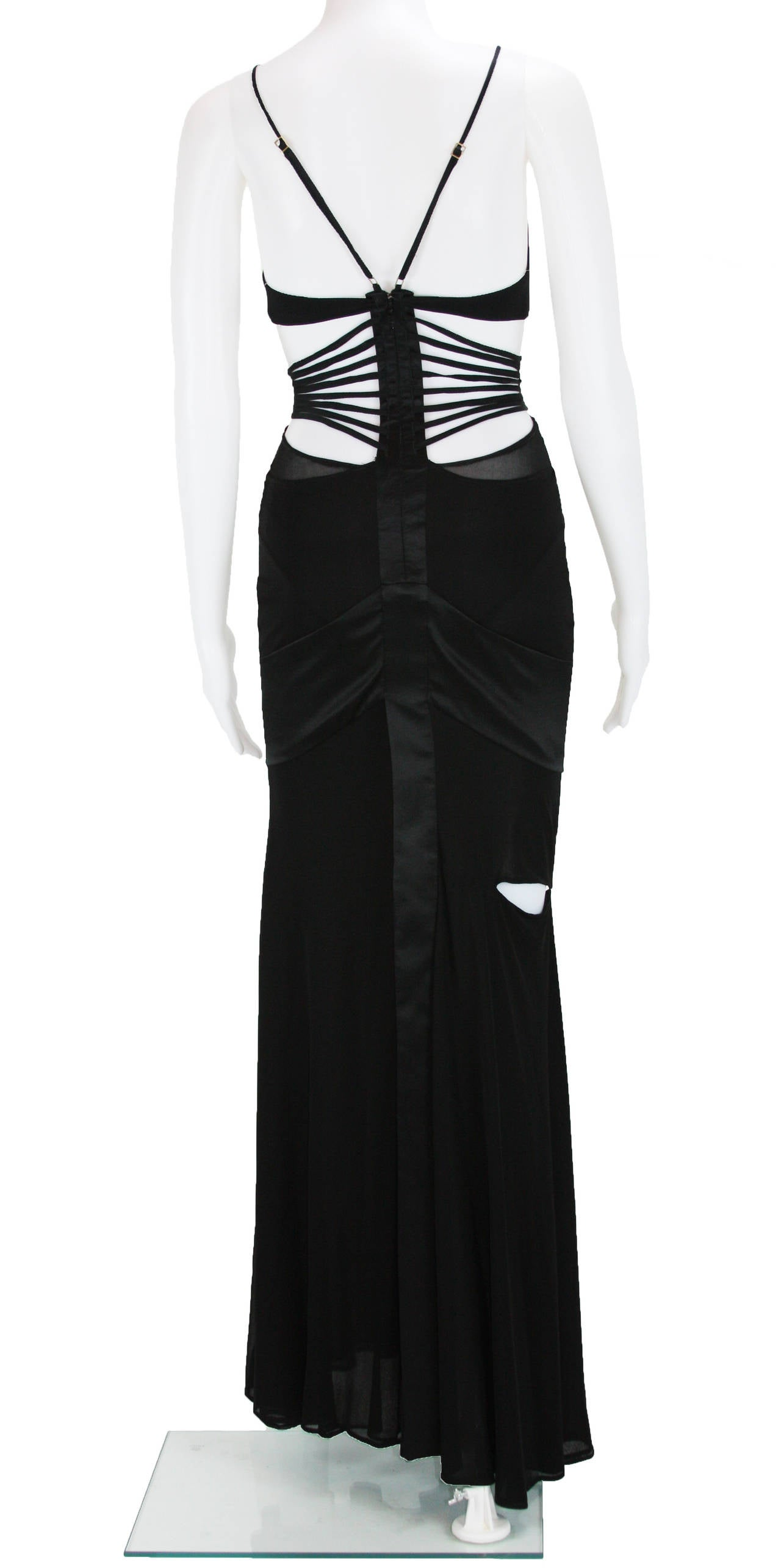 2003 Tom Ford for Gucci black bandage gown 3