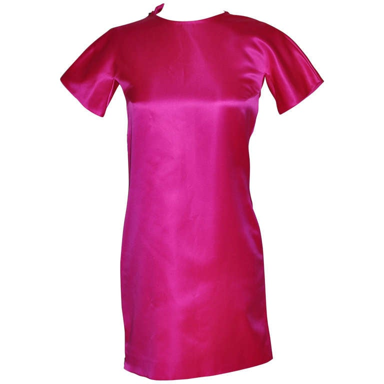 F/W 2001 Tom Ford for Gucci Hot Pink Dress with Exposed Zipper