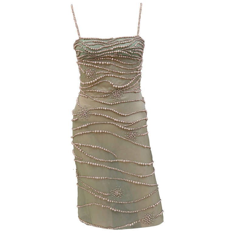 Versace Atelier Crystal and Pearl Embellished Dress 1