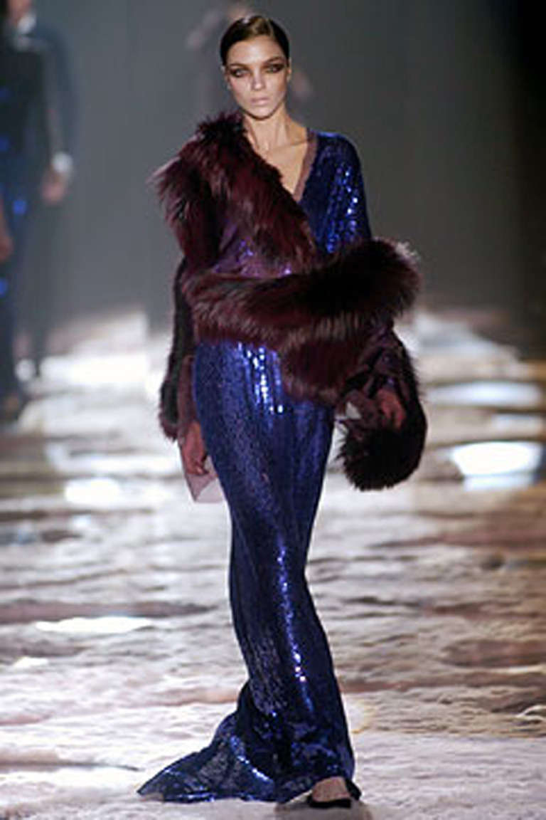 Tom Ford for Gucci purple sequin gown, 2004 at 1stdibs